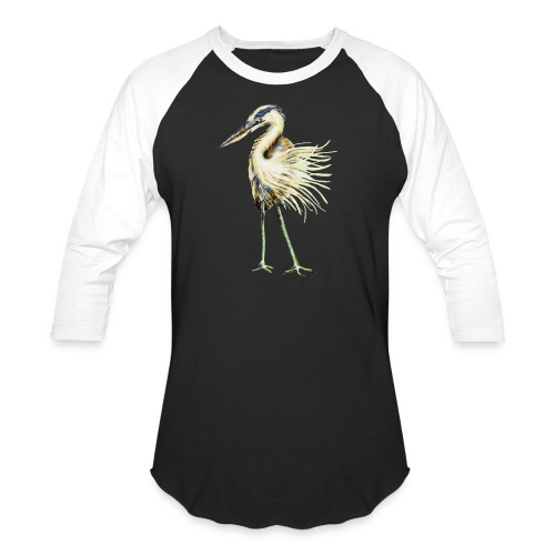 Great Blue Heron - Baseball T-Shirt