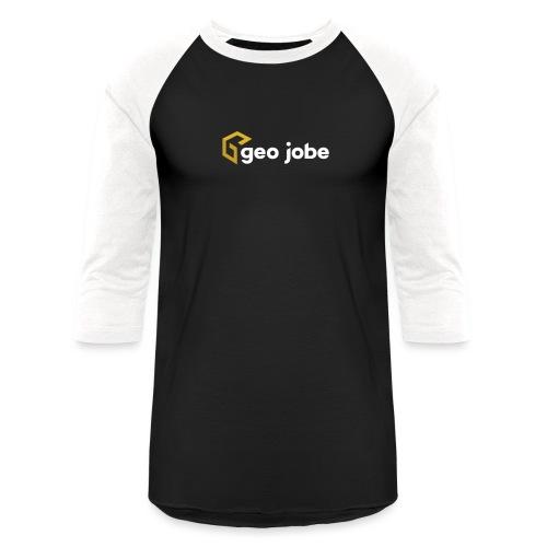 GEO Jobe Corp Logo White Text - Unisex Baseball T-Shirt