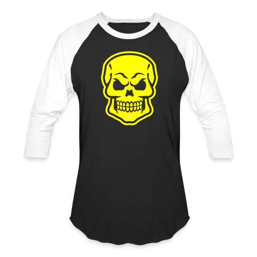 Skull vector yellow - Baseball T-Shirt