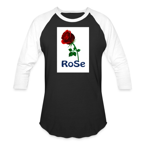 Red Rose - Unisex Baseball T-Shirt