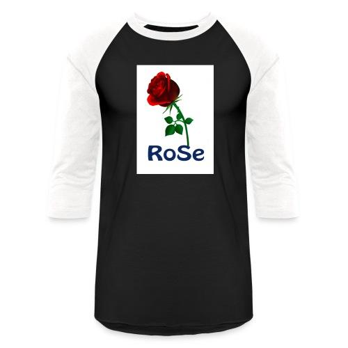Red Rose - Unisex Baseball T-Shirt