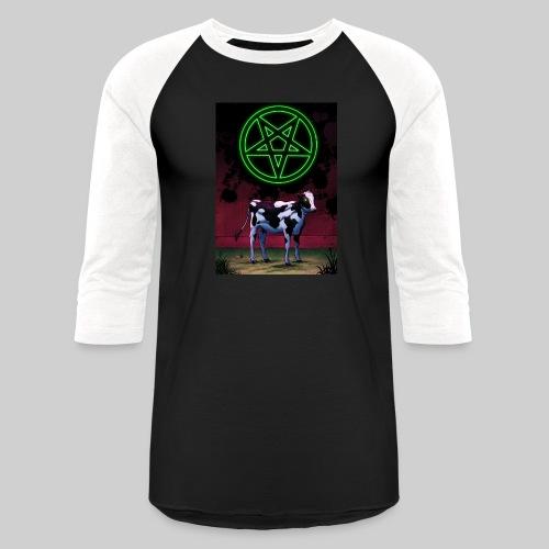 Satanic Cow - Unisex Baseball T-Shirt