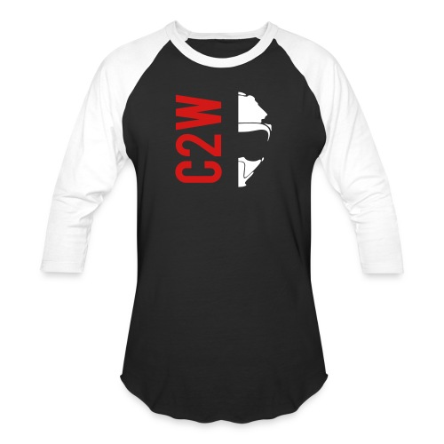 ChaseOnTwoWheels Split Logo - Baseball T-Shirt