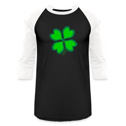 4 leaf clover - Unisex Baseball T-Shirt