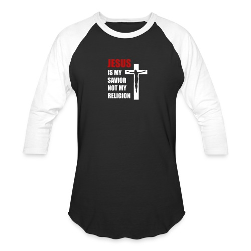 Jesus is my Savior Tee for men - Baseball T-Shirt