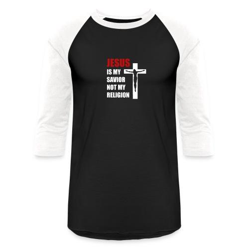 Jesus is my Savior Tee for men - Unisex Baseball T-Shirt