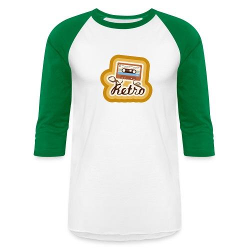 Retro-Cassette - Unisex Baseball T-Shirt