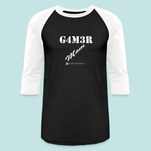 Gamer Mom (white) - Baseball T-Shirt