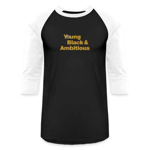 YBA Black and Gold Shirt2 - Unisex Baseball T-Shirt