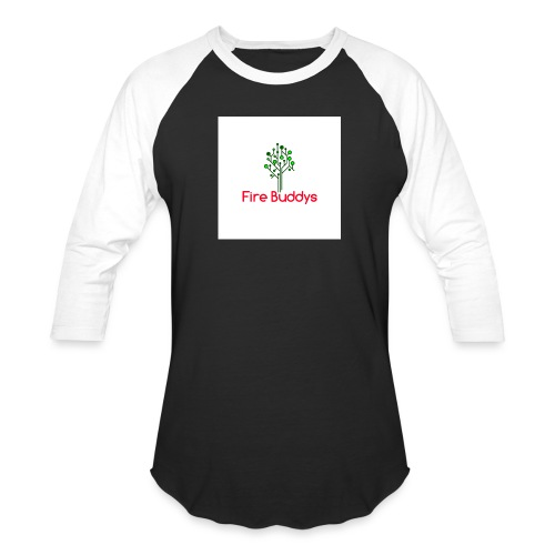 Fire Buddys Website Logo White Tee-shirt eco - Baseball T-Shirt