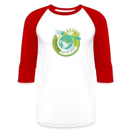 Peace Plate - Unisex Baseball T-Shirt