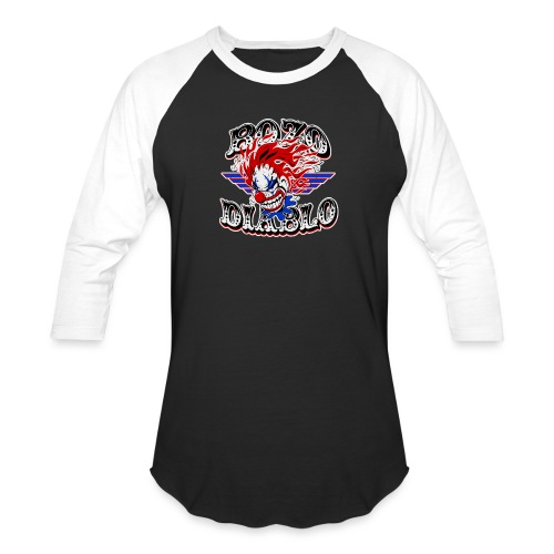 Bozo Diablo Crazy Clown Illustration - Baseball T-Shirt