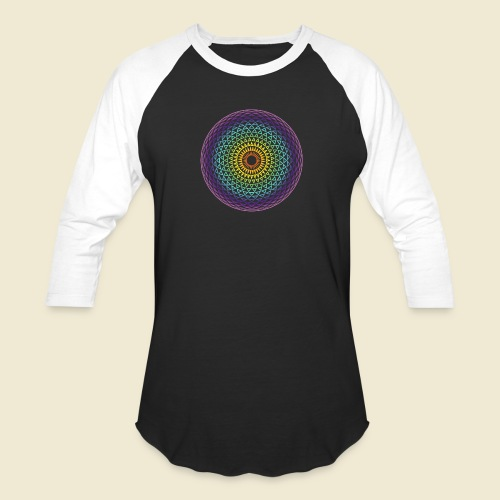 Torus Yantra Hypnotic Eye rainbow - Unisex Baseball T-Shirt