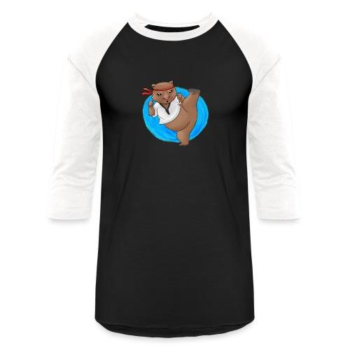 Wombat in Action - Unisex Baseball T-Shirt