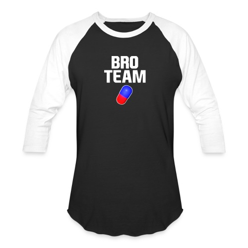 Bro Team White Words Logo Women's T-Shirts - Unisex Baseball T-Shirt