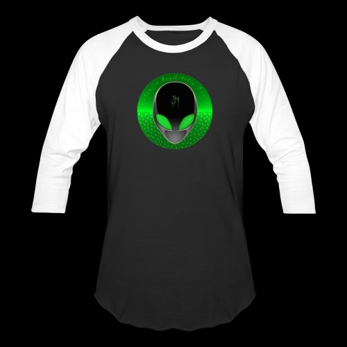 Psychedelic Alien Dolphin Green Cetacean Inspired - Baseball T-Shirt