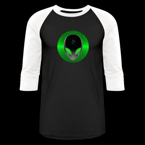 Psychedelic Alien Dolphin Green Cetacean Inspired - Unisex Baseball T-Shirt