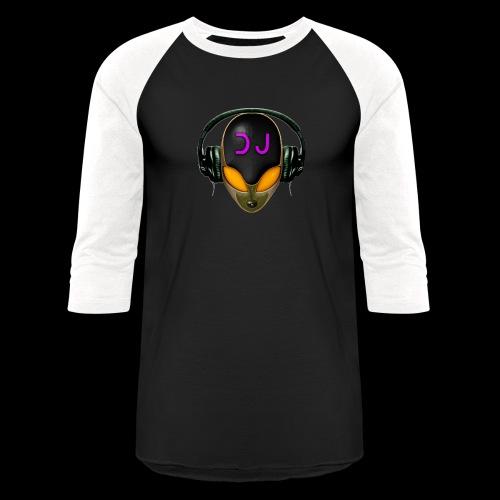 Alien DJ - Orange - Hard Shell Bug - Unisex Baseball T-Shirt