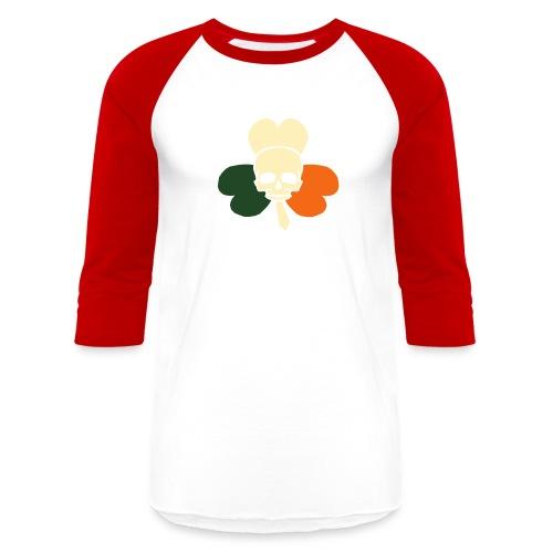 irish_skull_shamrock - Baseball T-Shirt