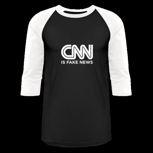 CNN Is Fake News - Baseball T-Shirt