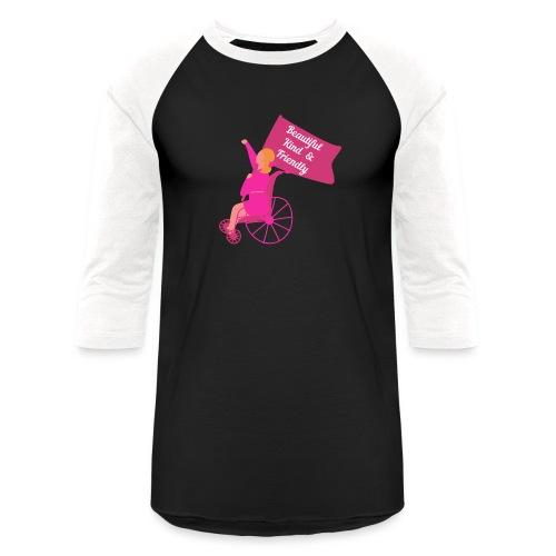 Beautiful Kind and Friendly - Unisex Baseball T-Shirt