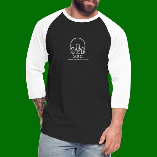 SPC Logo White - Unisex Baseball T-Shirt
