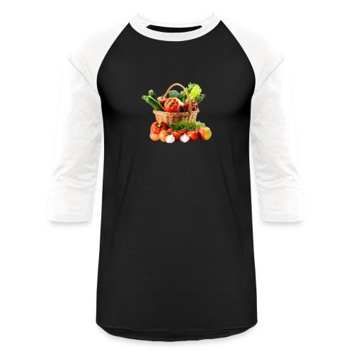 Vegetable transparent - Unisex Baseball T-Shirt