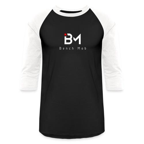 Bench Mob Logo (white) - Unisex Baseball T-Shirt