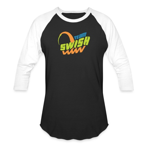 TeamSwish logo2 20 - Unisex Baseball T-Shirt
