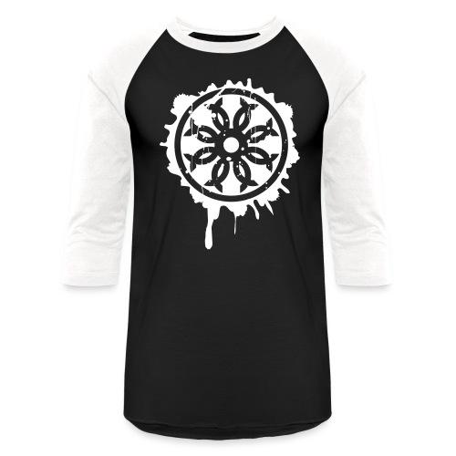 Splatter Crest - Unisex Baseball T-Shirt