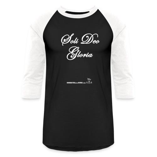 Soli Deo Gloria - T-shirt de baseball unisexe