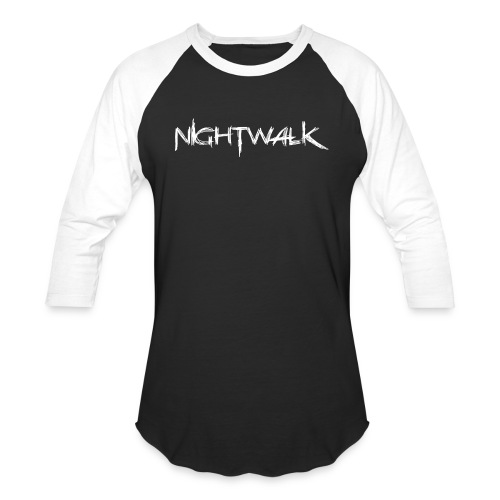 Nightwalk Logo White - Baseball T-Shirt