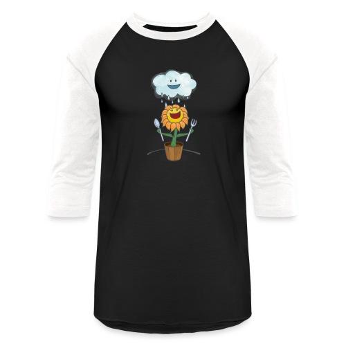 Cloud & Flower - Best friends forever - Unisex Baseball T-Shirt