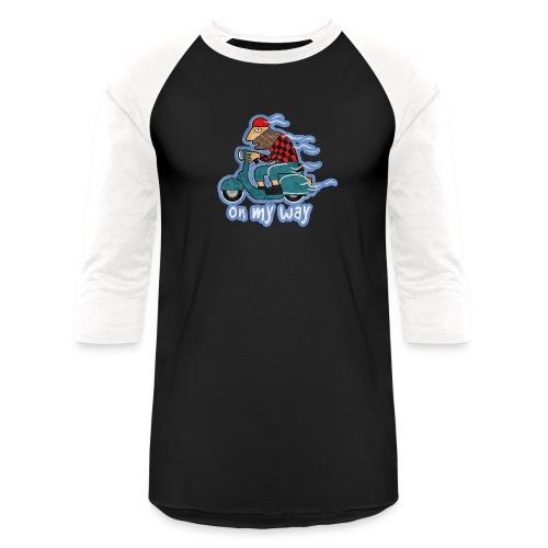 On my way. - Unisex Baseball T-Shirt