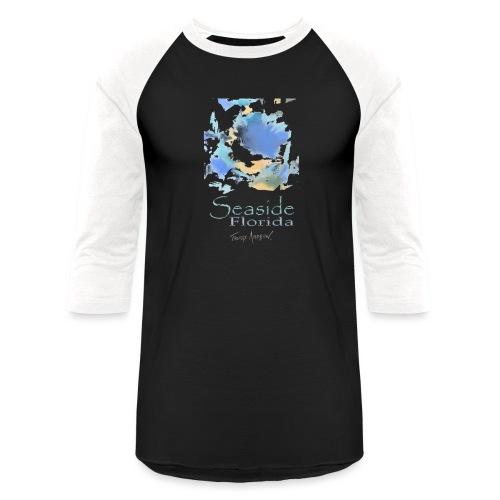 Seaside Shirt Design 5 no border - Unisex Baseball T-Shirt