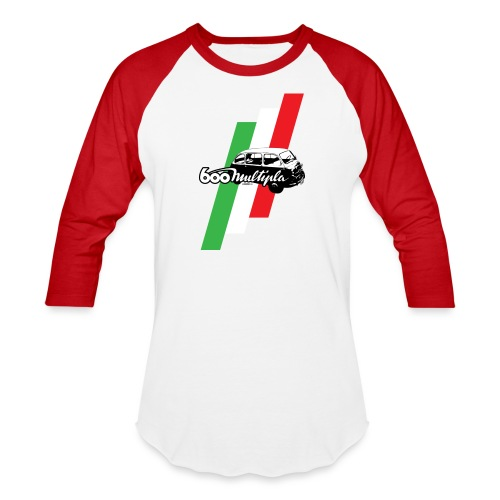 Fiat 600 Multipla script and illustration - - Baseball T-Shirt