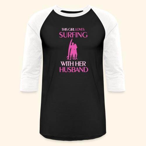 Surf Shirts Womens for Men, Women, Kids, Babies - Unisex Baseball T-Shirt