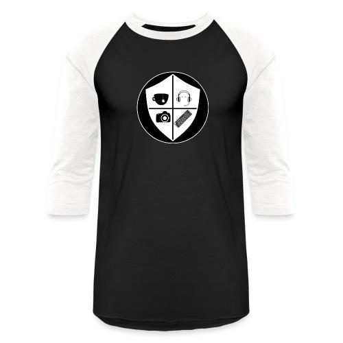 Punk Who Drinks Tea Crest (Inverted) - Unisex Baseball T-Shirt