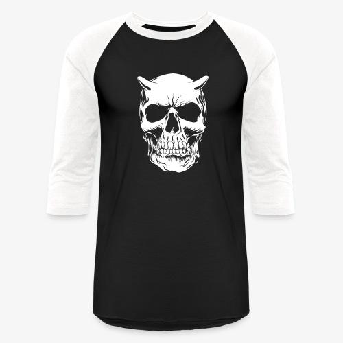 Big Face skull negatif - Baseball T-Shirt