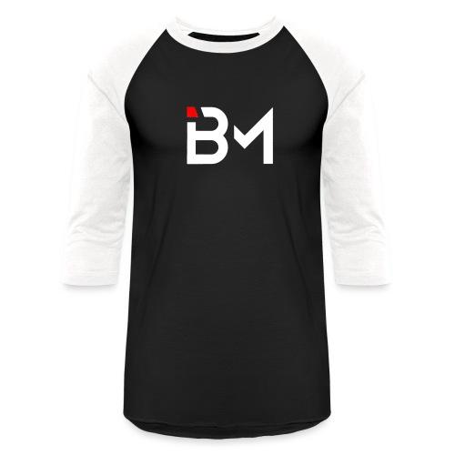 Bench Mob logo no lettering (white) - Unisex Baseball T-Shirt