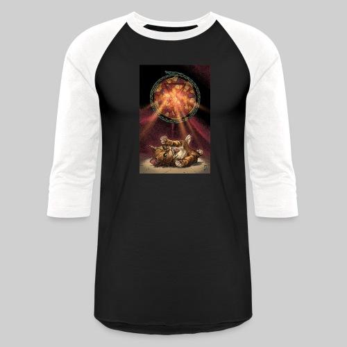 Playful Satanic Kitten - Baseball T-Shirt