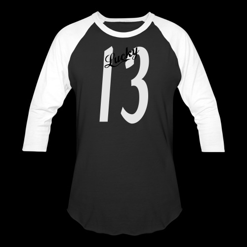 Lucky Thirteen - Unisex Baseball T-Shirt