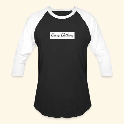 Cursive Black and White Hoodie - Unisex Baseball T-Shirt