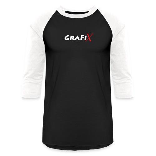 GraFiX NoirT png - Unisex Baseball T-Shirt