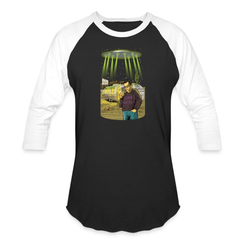 Art Bell Coast to Coast UFO Sighting - Baseball T-Shirt
