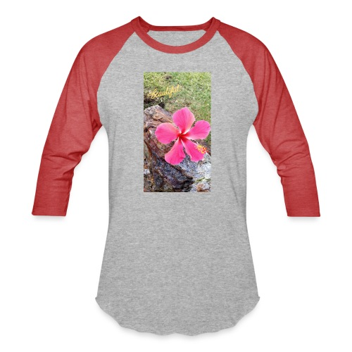 Pink Beach Flower - Baseball T-Shirt