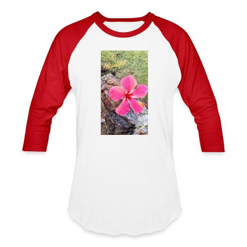 Pink Beach Flower - Baseball T-Shirt