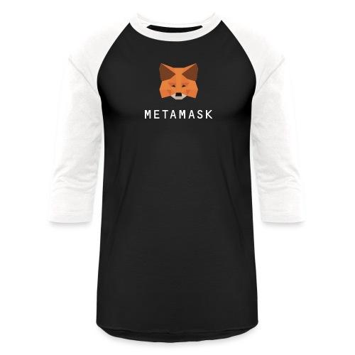 MetaMask Fox White Wordmark - Unisex Baseball T-Shirt