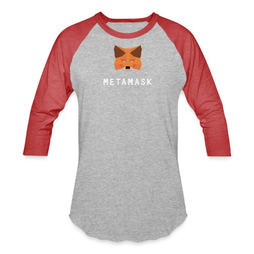 MetaMask Fox White Wordmark - Unisex Baseball T-Shirt