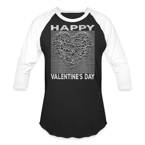 Love Lines Happy Valentines Day Heart - Unisex Baseball T-Shirt
